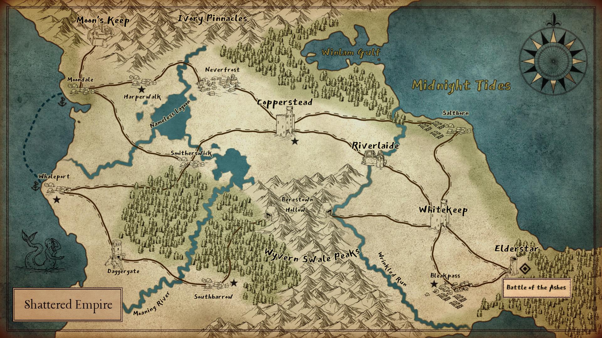 Memories of the Fallen - World Map