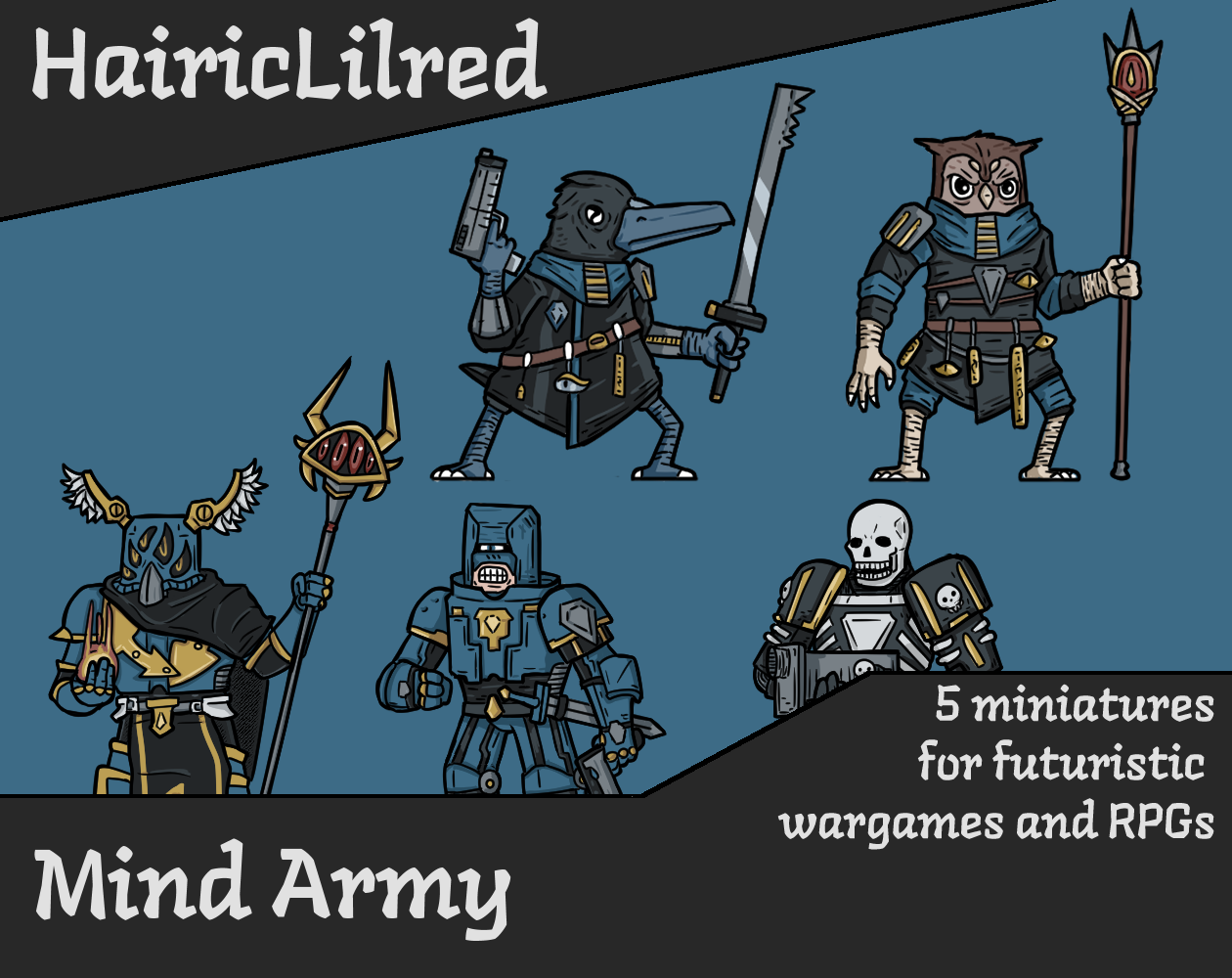 Hairic Wargame Miniature - Mind Army pack