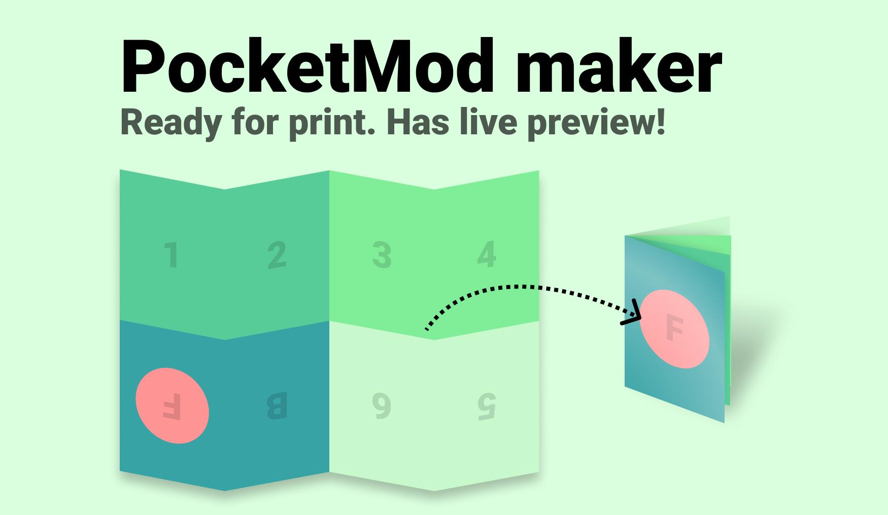 PocketMod / Zine template for Figma