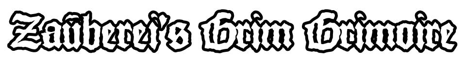 Zauberei's Grim Grimoire — for Mausritter