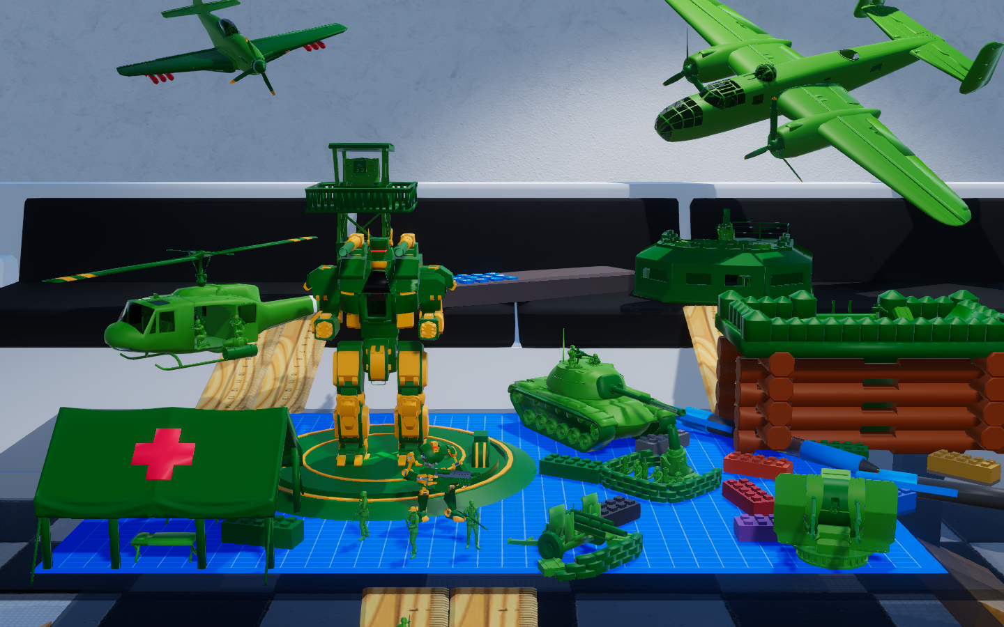 Devlog #15 B-25 Bomber, Mega Mech, War Robot, and All Tower Are Now Controllable!