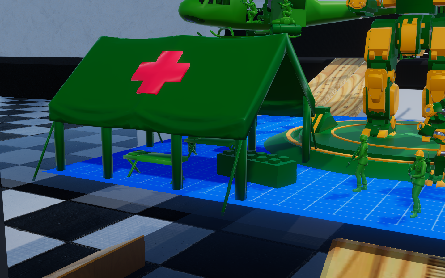 Updated Model Army Men Medic Tent