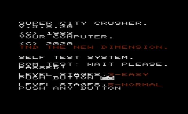 Self Test City Crusher