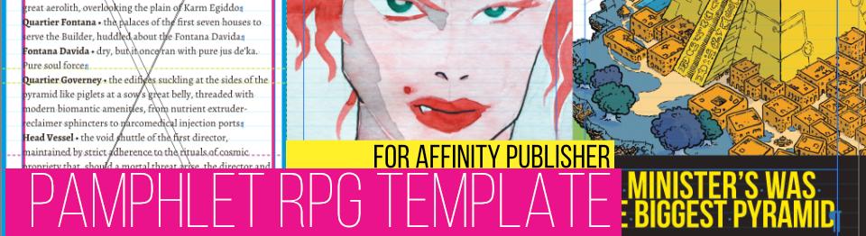 WTF Pamphlet RPG Template (affinity publisher)
