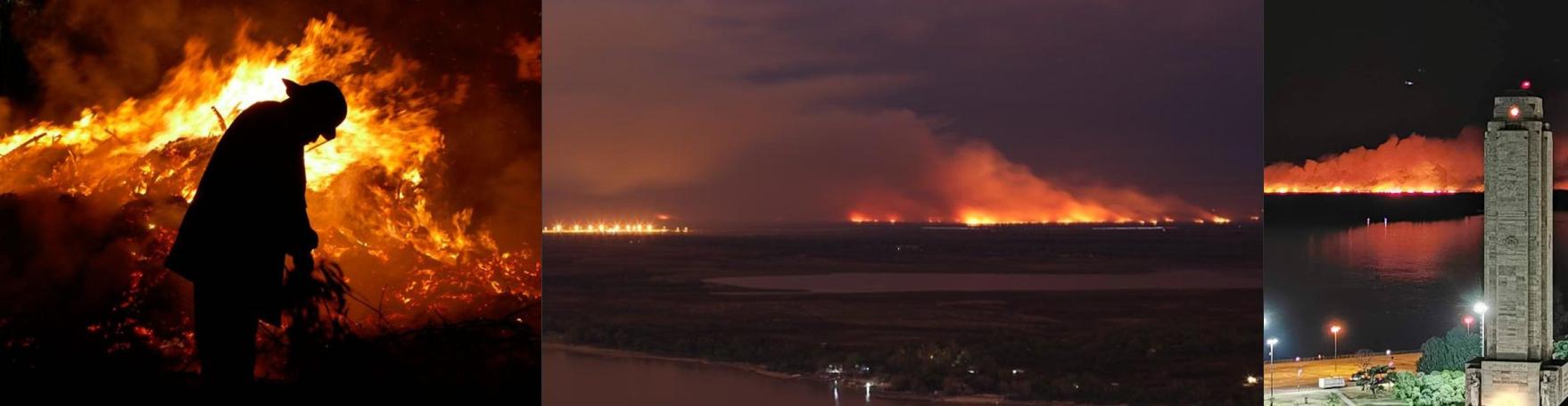 Arde el Delta
