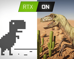T-rex, but ray tracing is ON