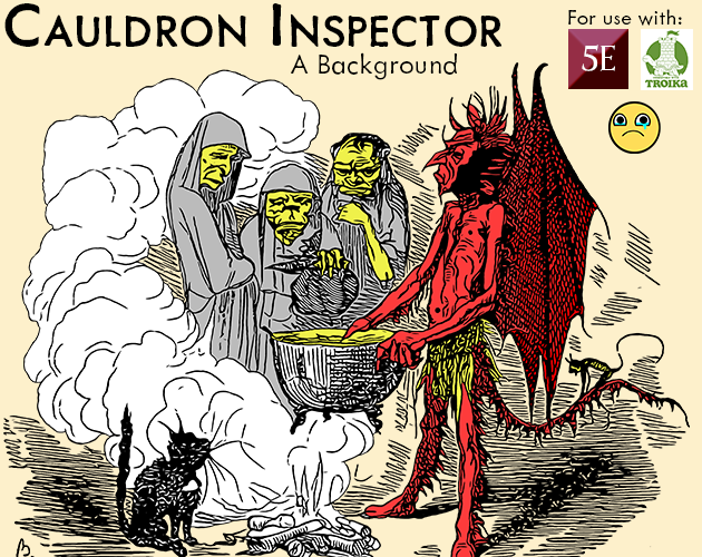 Cauldron Inspector - Background for 5e & Troika!