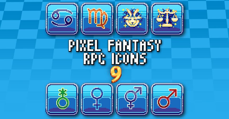 PIXEL FANTASY RPG ICONS - PACK 9