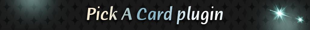 Pick A Card | Rpgmaker Plugin