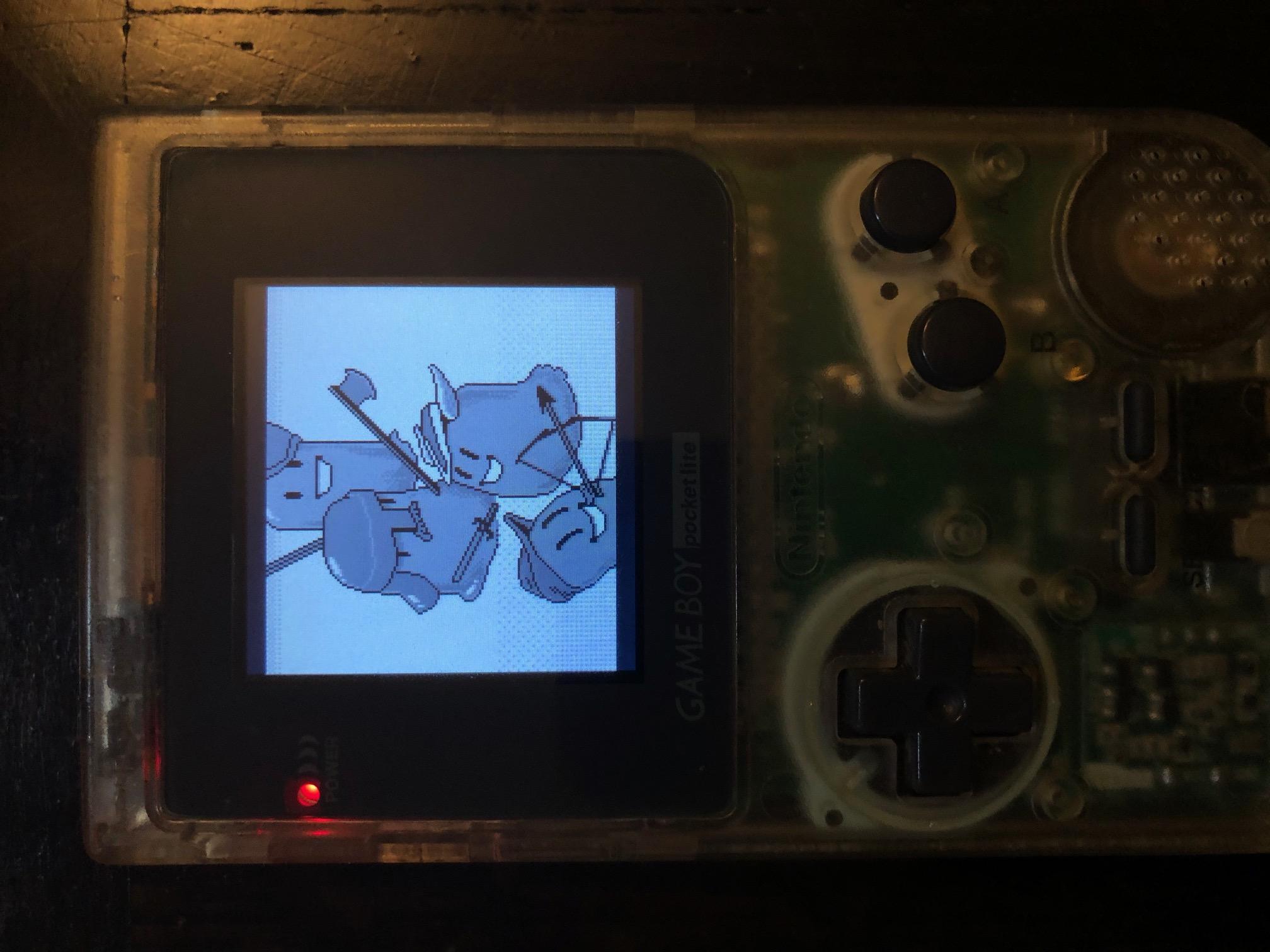 Sludge & Sorcery on a Gameboy Pocket