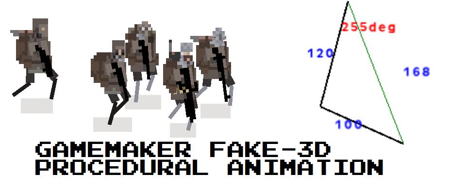GameMaker Fake 3d Procedural Animation Example