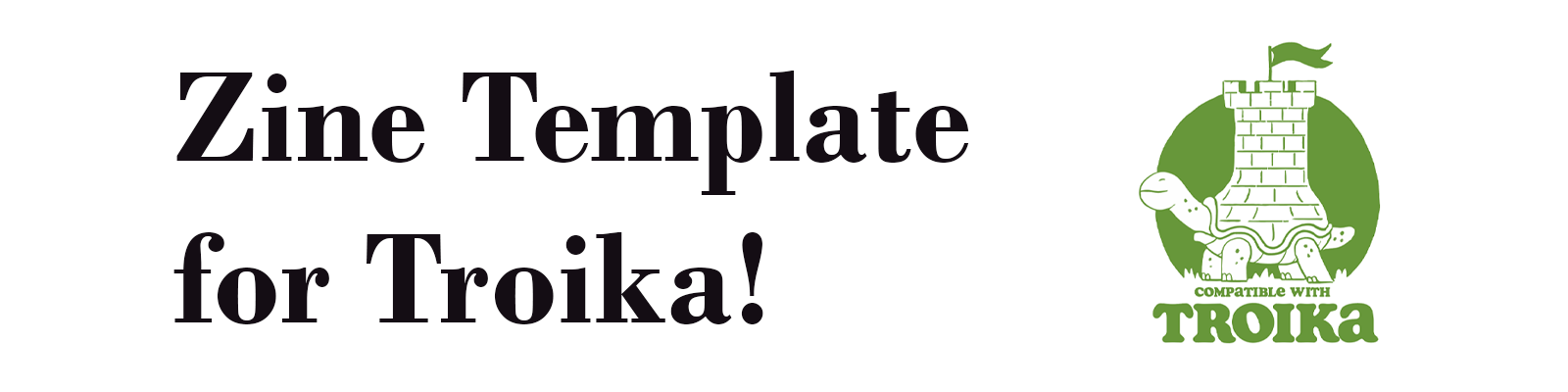 Zine Template for Troika!