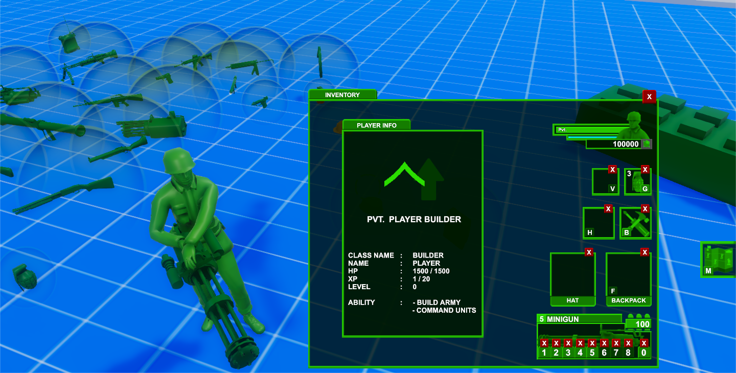 Customizable Army Men Example #1: Minigun