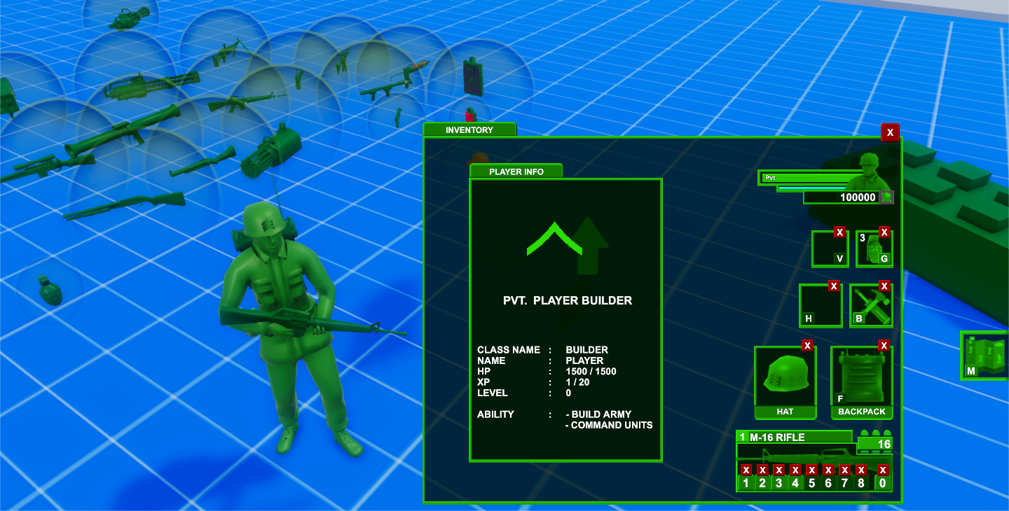 Customizable Army Men Example #2: Sarge (SGT) Helmet + Radio