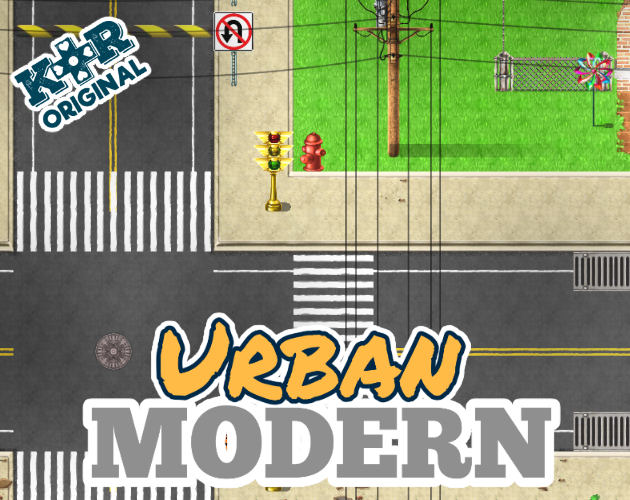RPG Maker Urban Modern Tileset