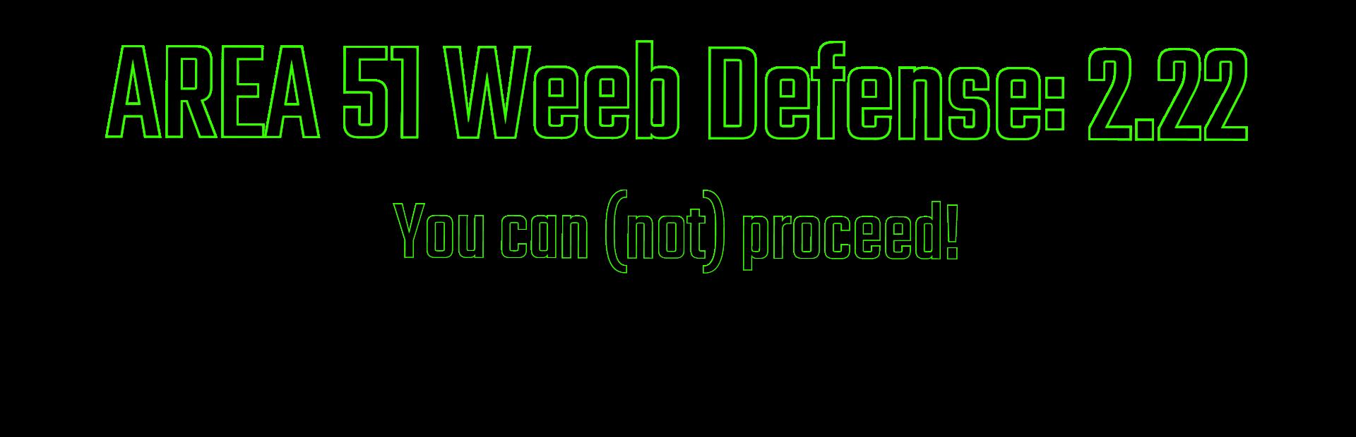 Area 51 Weeb Defense 2.22