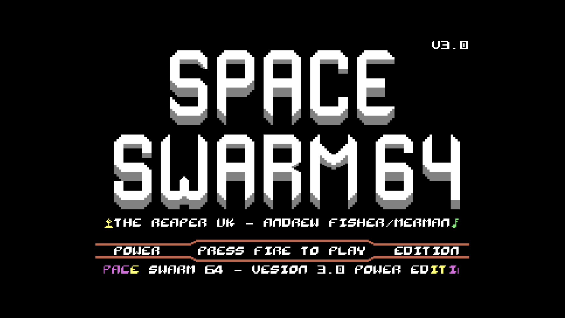 Space Swarm 64 Version 3.0 (C64)