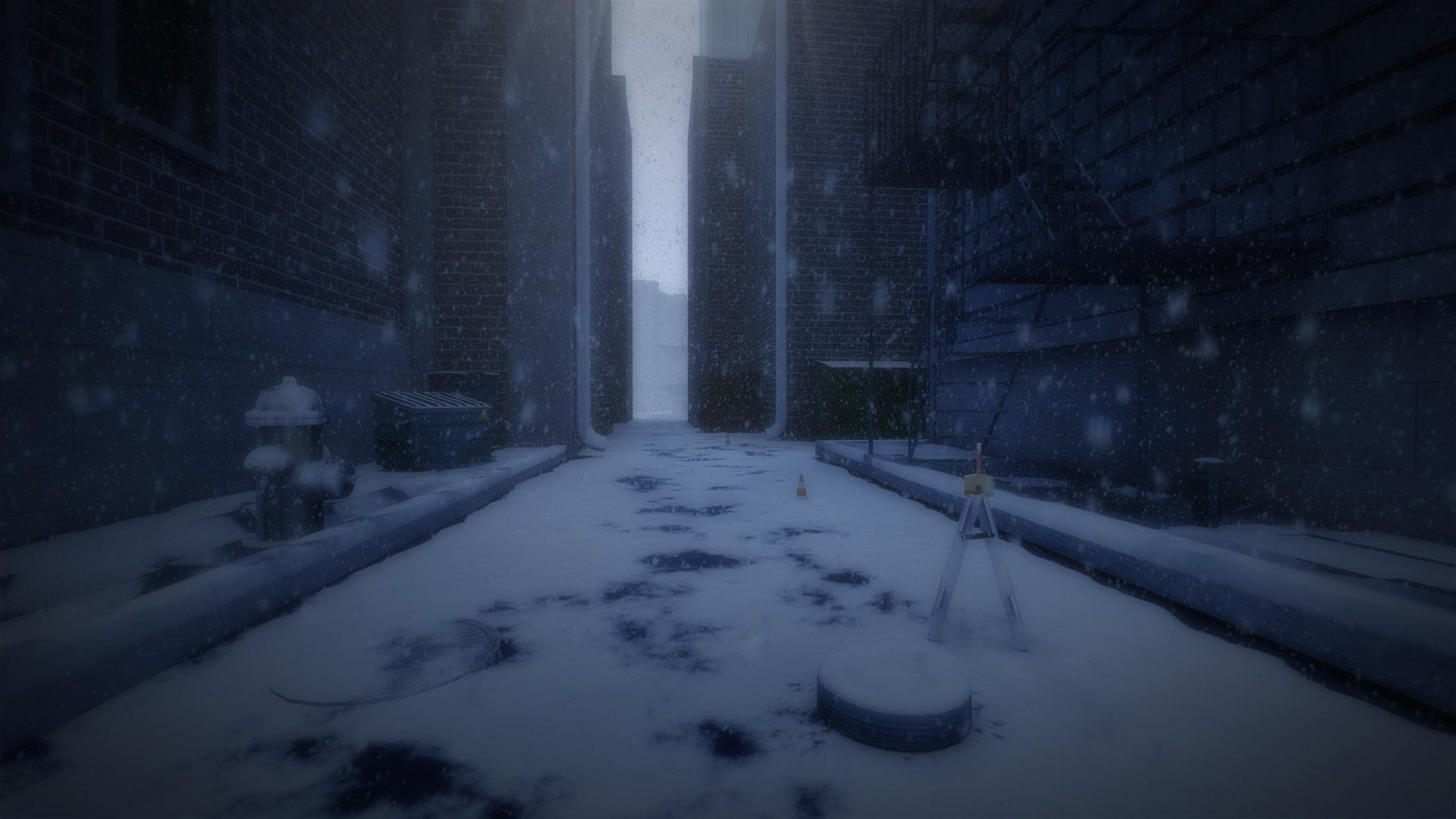 Urban visual novel backgrounds