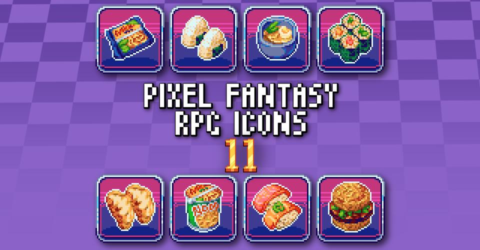 PIXEL FANTASY RPG ICONS - PACK 11