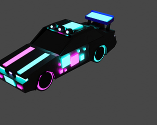 Cyber Car for game .OBJ