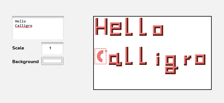 Font preview before exporting