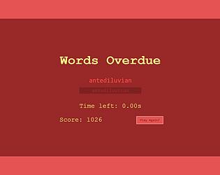 Words Overdue