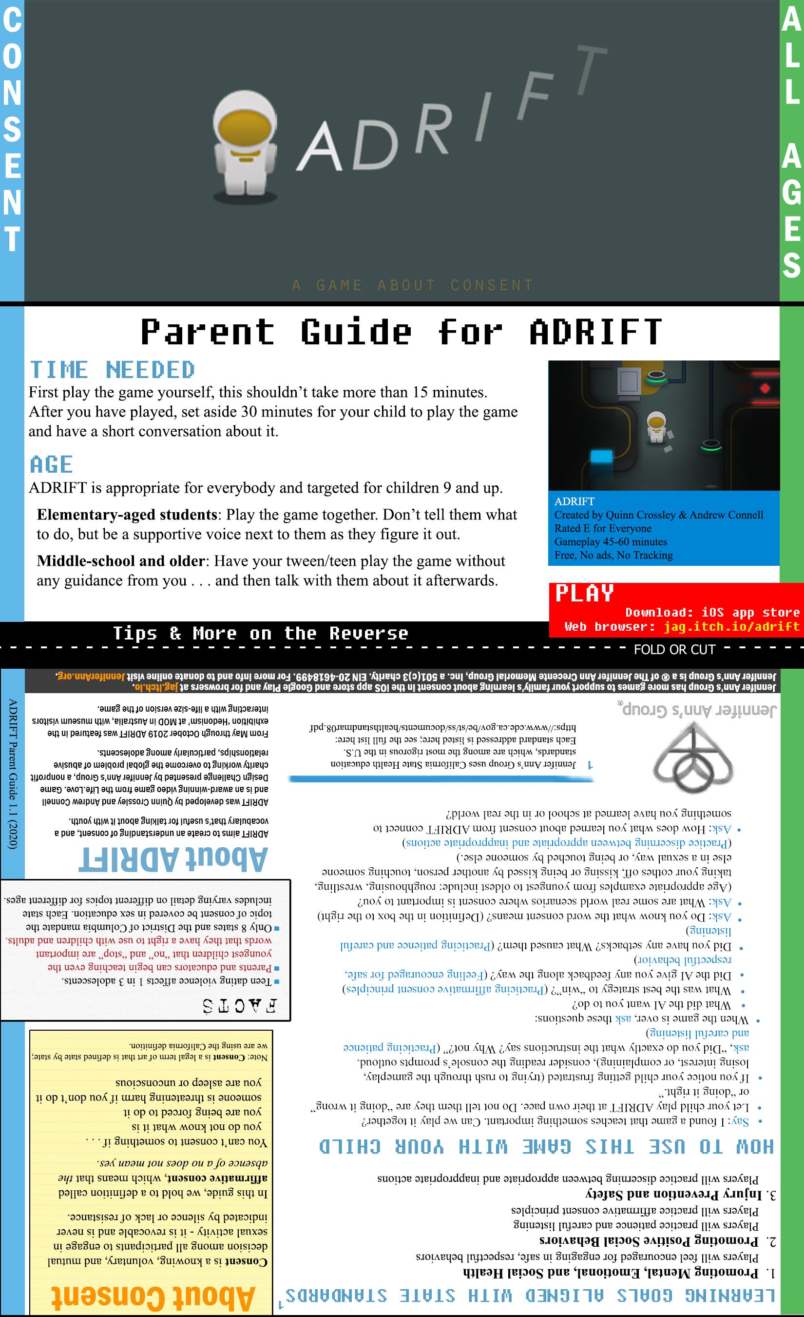 ADRIFT Parent's Guide