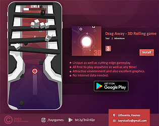Drag Away - 3D Rolling game