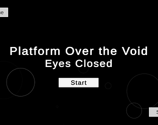 Platform Over the Void: Eyes Closed