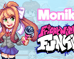 Friday Night Funkin Monika (DDLC) mod (KADE ENGINE)