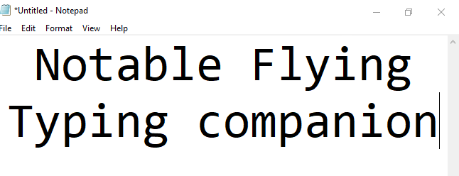 Notable Flying Typing Companion (NFTc)