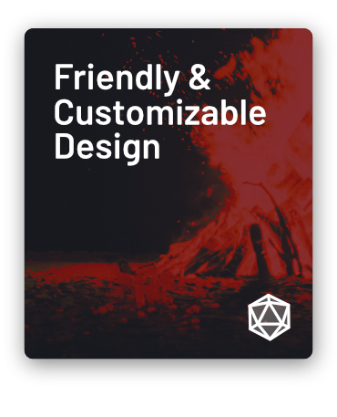 Friendly & Customizable Design!