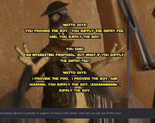 A game of chance with Watto
