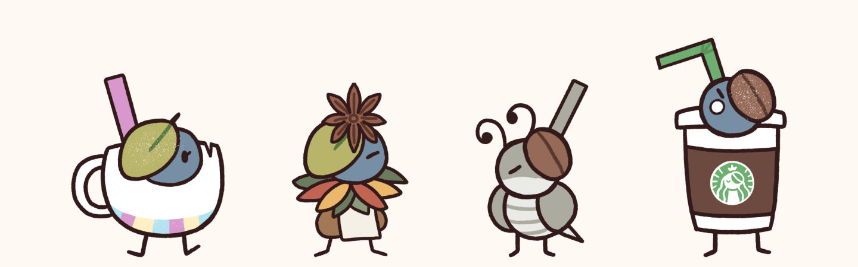 Multiple tea and coffee minions