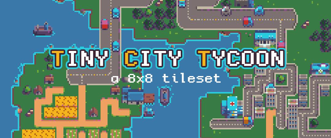 Tiny City Tycoon - Pixel Art Assets [8x8]