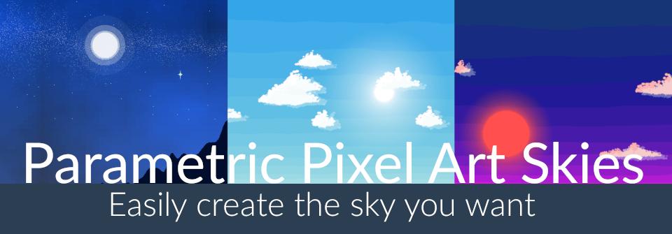 Parametric 2D Pixel Art Skies