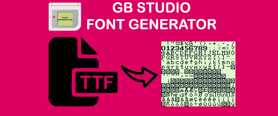 GB Studio - Font Generator