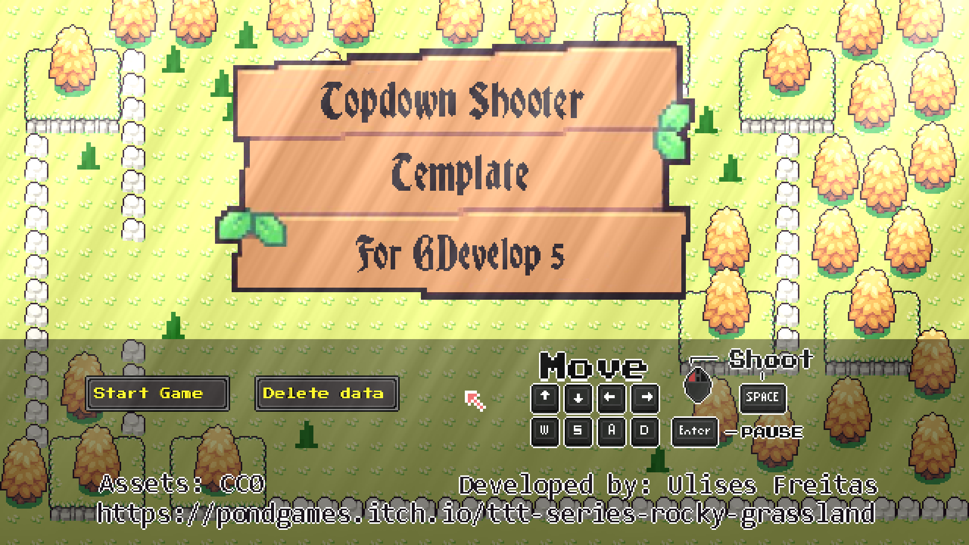 GDevelop - Shootalia - Top Down Shooter Template