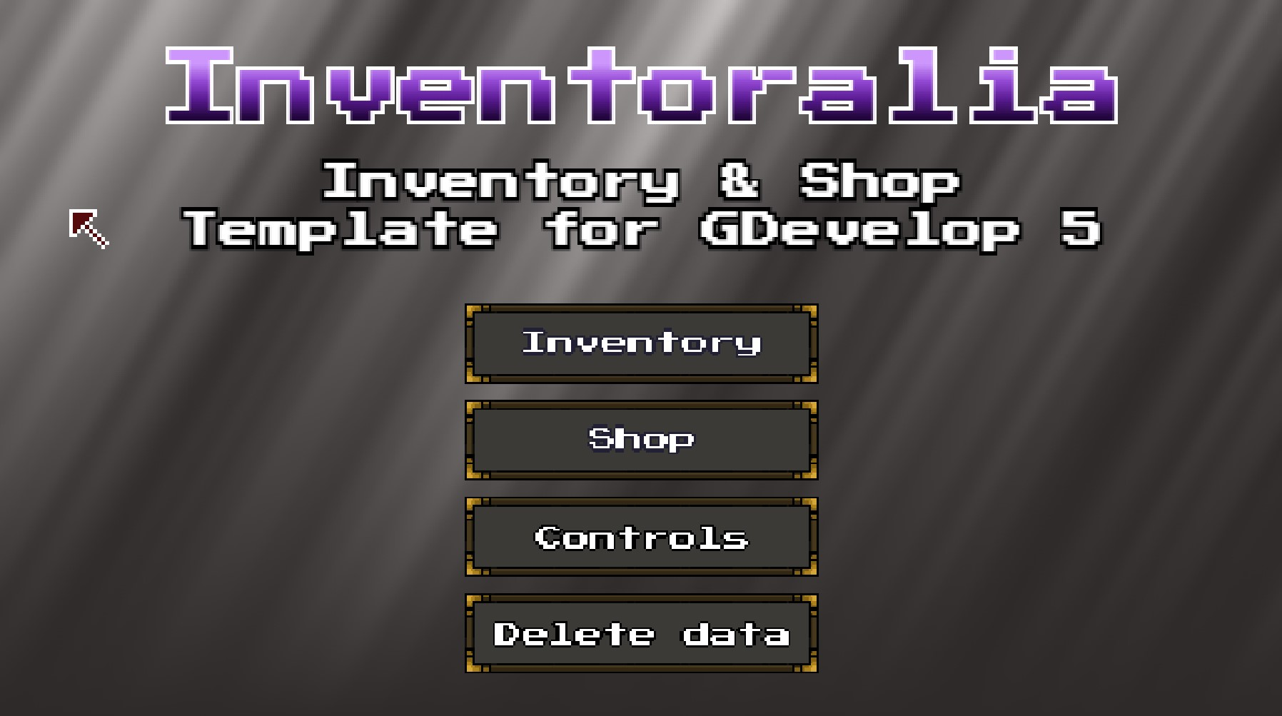 GDevelop - Inventoralia - Inventory & shop template