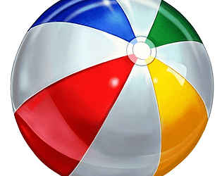 beach ball bounce