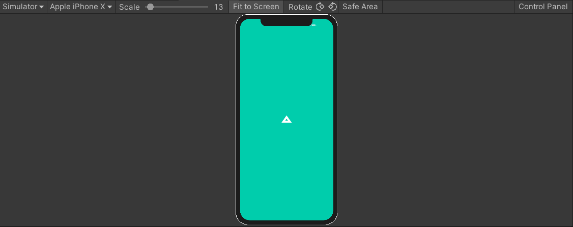 Game simulated on an iPhone X