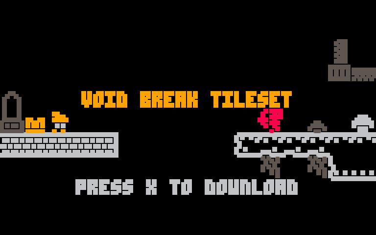 8x8 1-bit Inspired Tileset from Void Break!