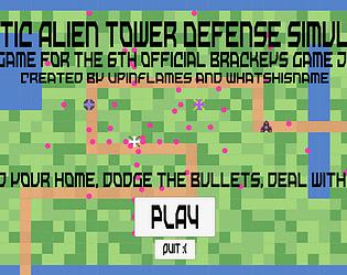 Chaotic Alien Tower Defense Simulator