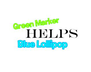Green Marker Helps Blue Lollipop