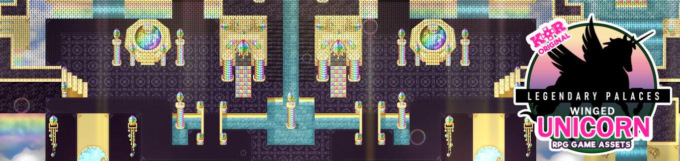 KR Legendary Palaces ~ Winged Unicorn Tileset for RPGs