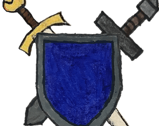 Cavaliere Scudo Blu
