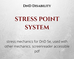 Stress Point System - DnD 5e