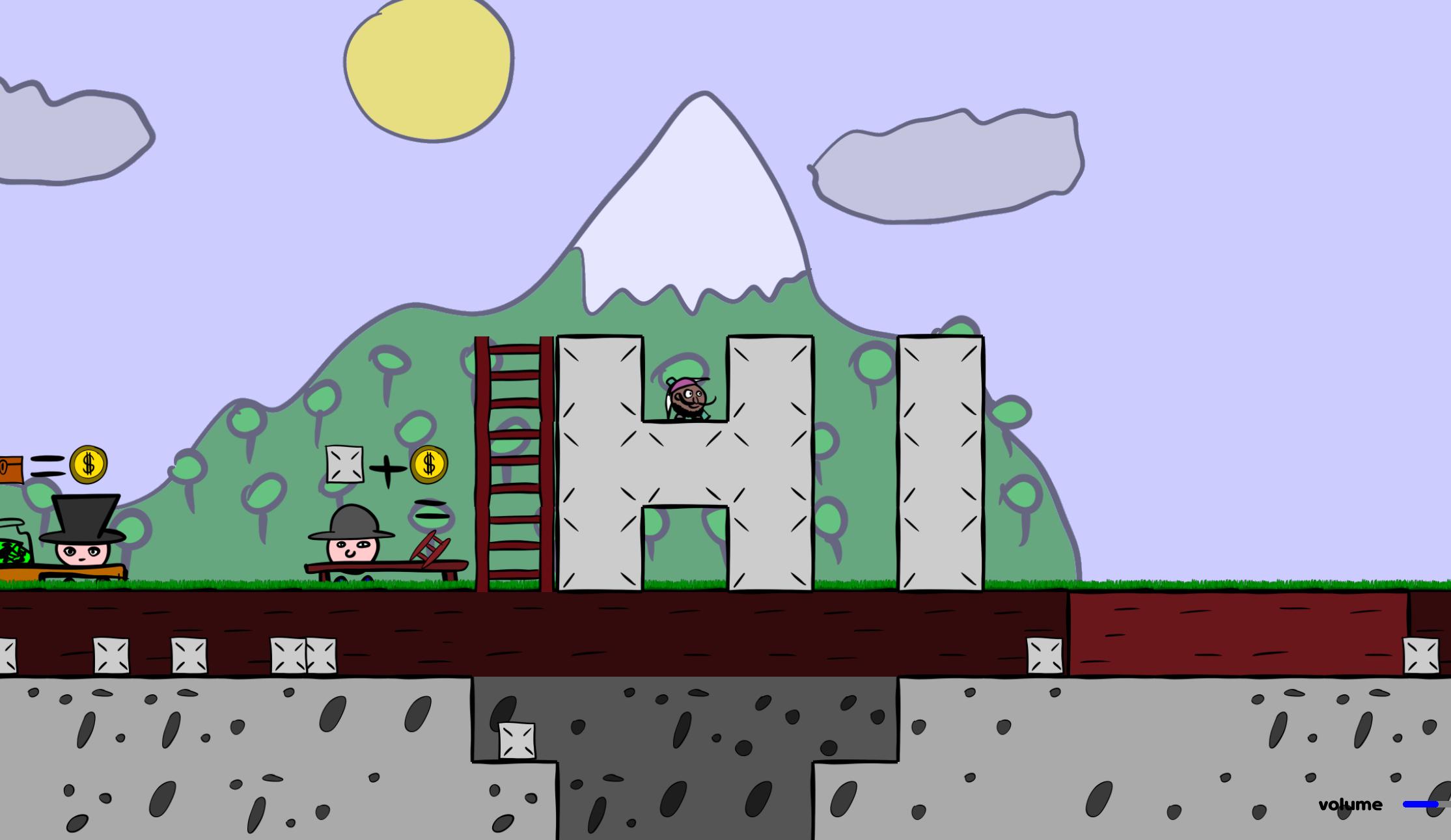 A screenshot of Dig World gameplay