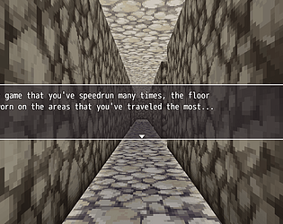 This Is A First Person Dungeon Crawler That You're Speedrunning At An Event