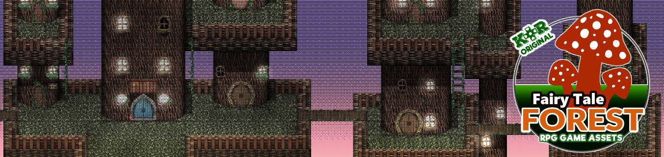 KR Fairy Tale Forest Tileset for RPGs v2!